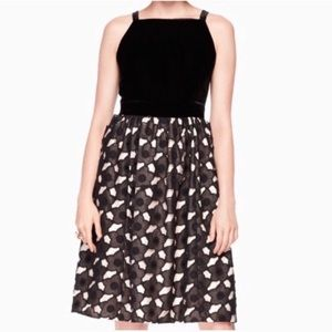 NWT Kate Spade Poppy Cutwork Velvet Bodice Dress